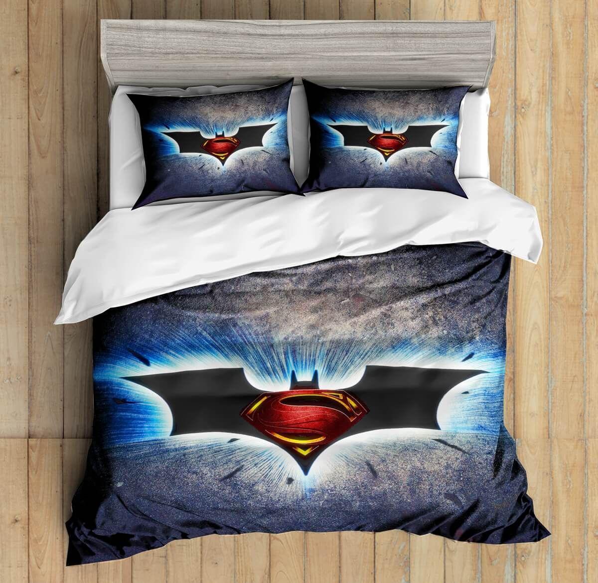 3d Custom Batman Vs Superman Bedding Set Duvet Cover Set Bedroom