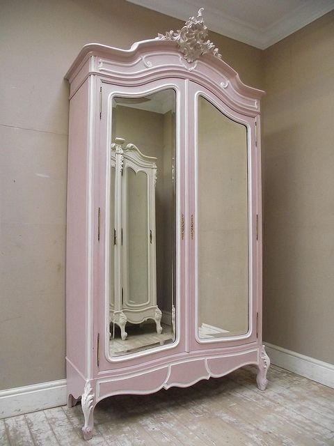 French Antique Rococo Armoire in Pink | Armario, Muebles antiguos y ...