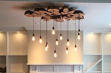 Unique Extra Large Live Edge Olive Wood Centerpiece Chandelier Contemporary Rustic Light Fixture By 7m Woodworking Paul Miller On Etsy
