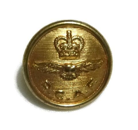 Vintage 50's RCAF Military Button Royal Canadian Air