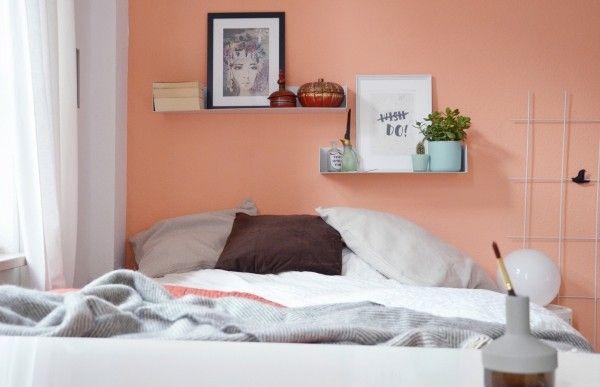 wandfarben ideen schlafzimmer wandgestaltung ideen aprikosenfarbe - wandfarben ideen schlafzimmer