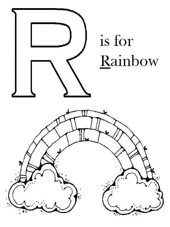 Rainbow coloring page preschool color pages pinterest for Rainbow coloring page for preschool