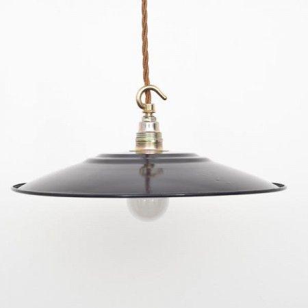 Flat Black Enamel Lampshade - Lamp Shades - Lighting Accessories - Lighting & Mirrors