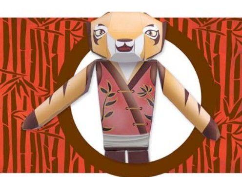 Kung Fu Panda Master Tigress Free Papercraft Download Http Www