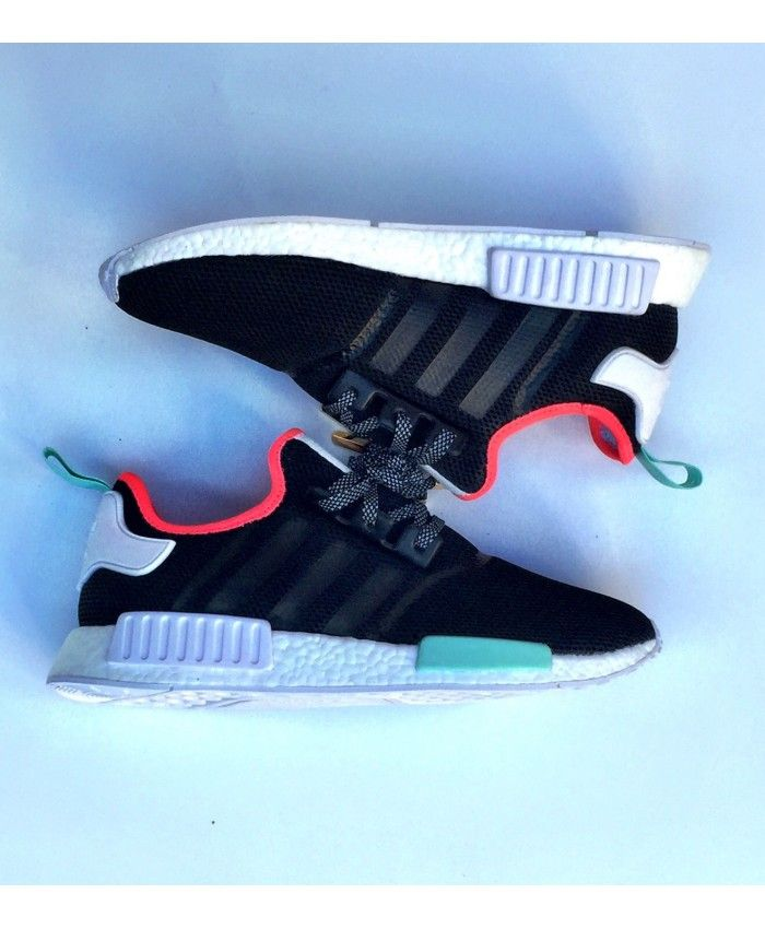 Adidas Nmd R1 Black Green Red trainers for cheap | adidas