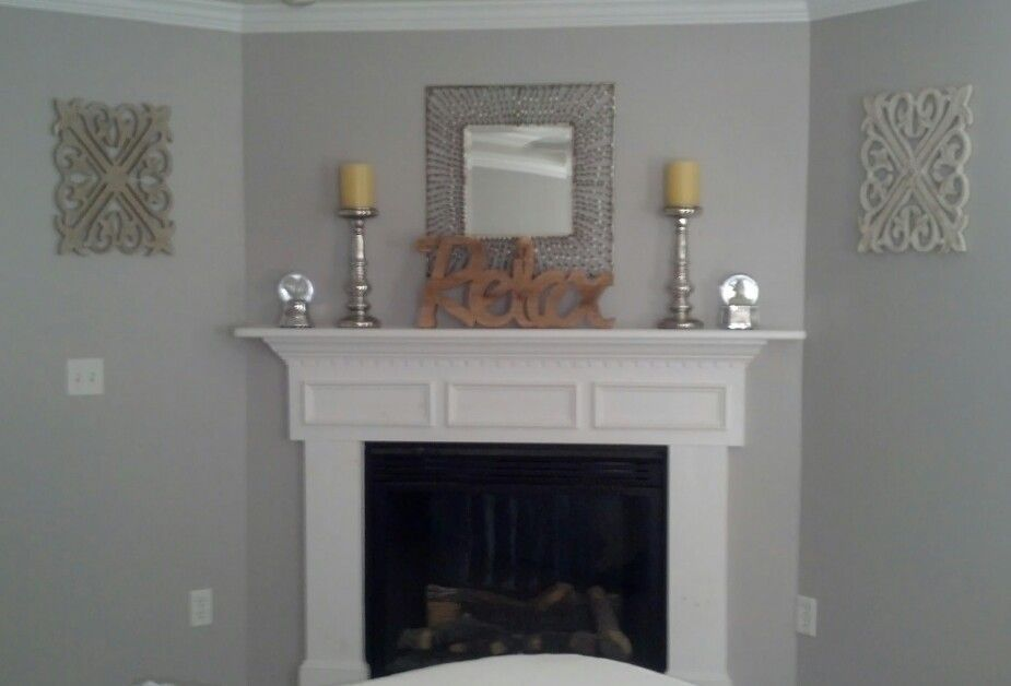 Wonderful MASTER BEDROOM/AFTER   The Room Is Painted In A Soft Gray (Behr Natural Grey)  Accent Colors Are Yellow And White.