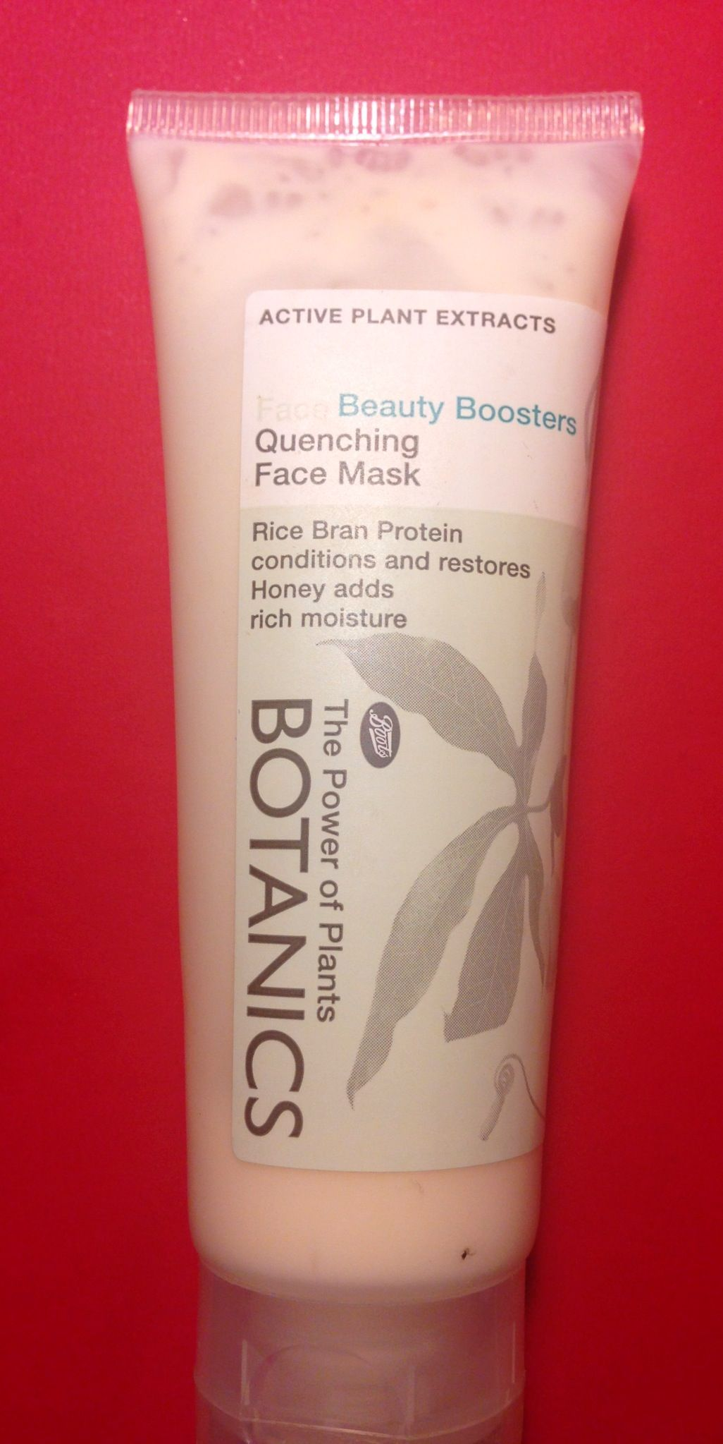Boots Botanics Quenching Face Mask This Contains Rice Bran Protein And Honey For Moisture Beauty Therapy Moisturizer Skin Care Collection