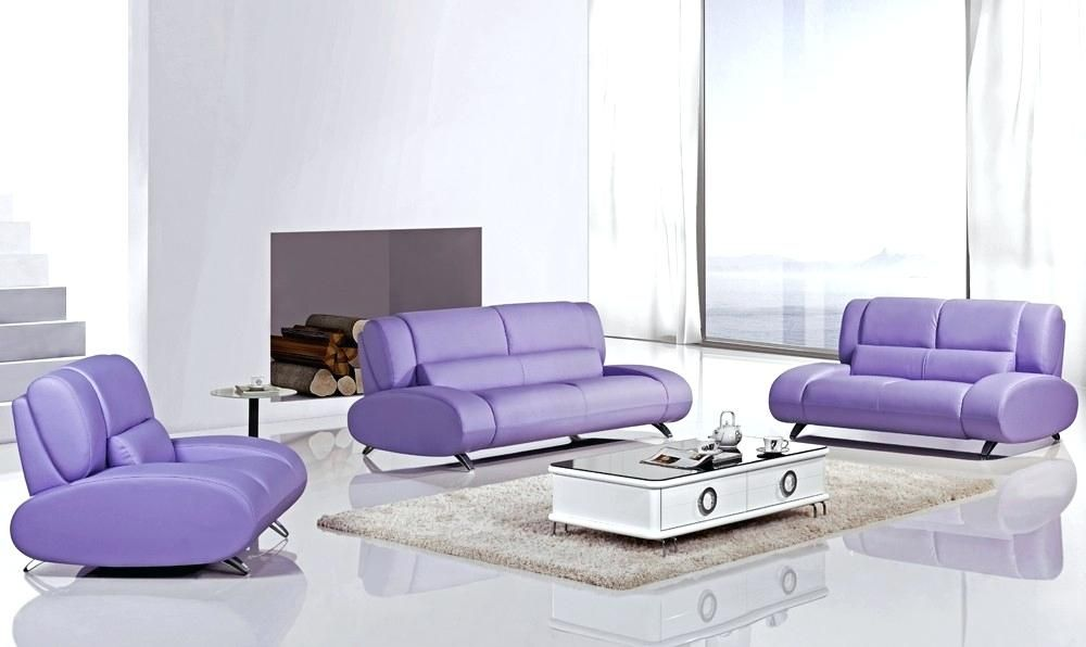 Purple Sofa Set With Images Sofa Set Contemporary Leather