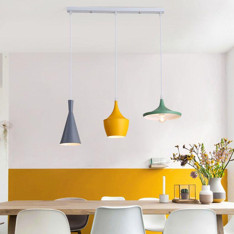 Scandinavian Style 3 Light Round Liner Pendant For Dining Room Restaurant And Bar Lighting Pendants Bar Lighting Scandinavian Style Lighting