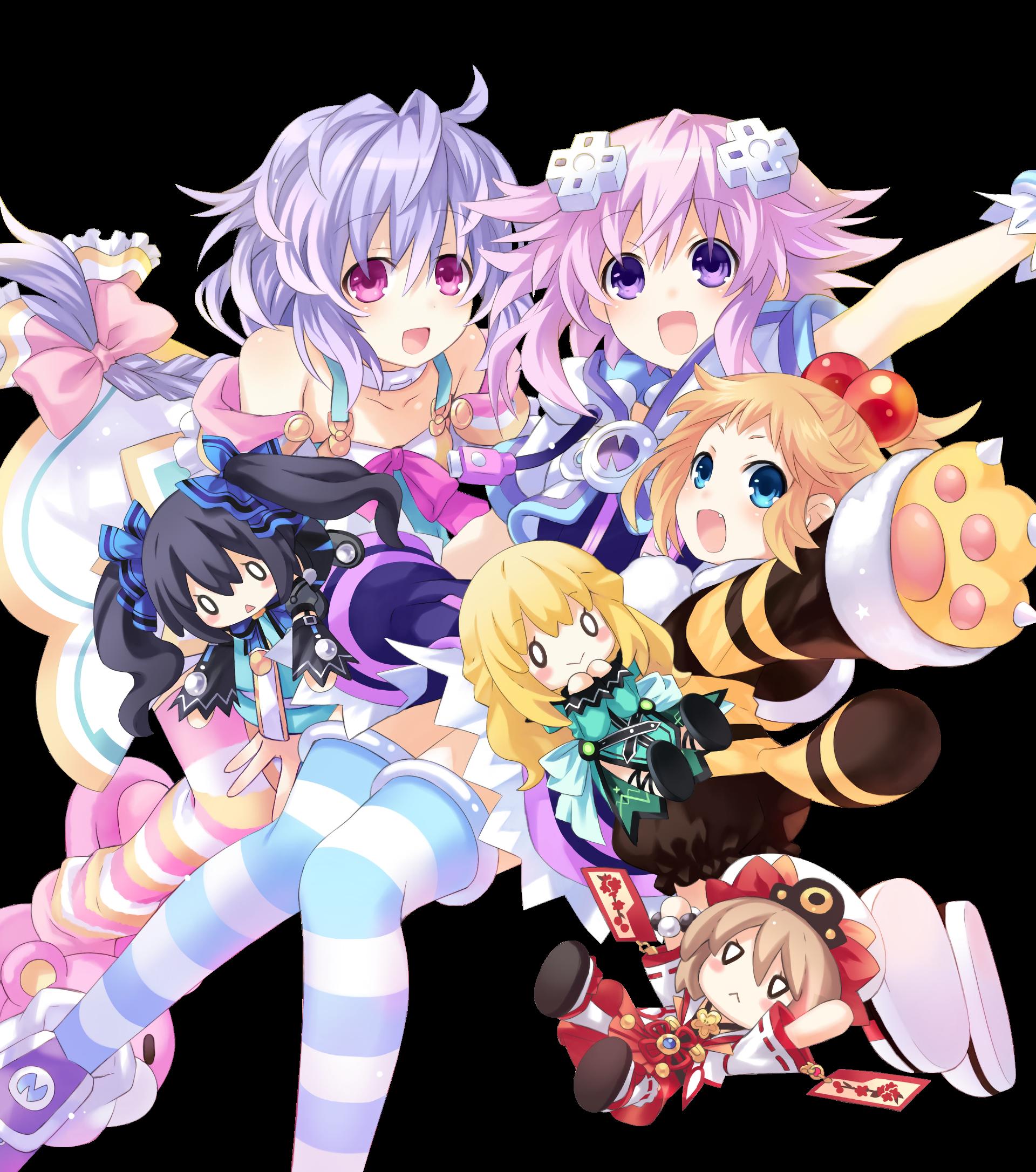 Neptune, Plutia, and Peashy Render by Jessymoonn Anime