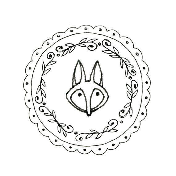 Fox Hand Embroidery Pattern Printable Woodland Animal Digital ...