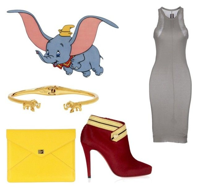 """Dumbo inspired outfit"" by disneylover9822 ❤ liked on Polyvore featuring DRKSHDW, Disney, Dolce&Gabbana, Kate Spade and Christian Louboutin"