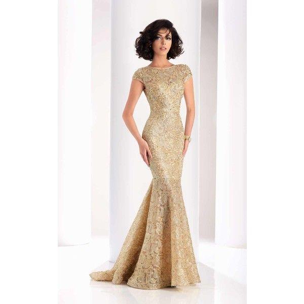 Clarisse 4852 Prom Mermaid Dress Long High Neckline Short Sleeve ...
