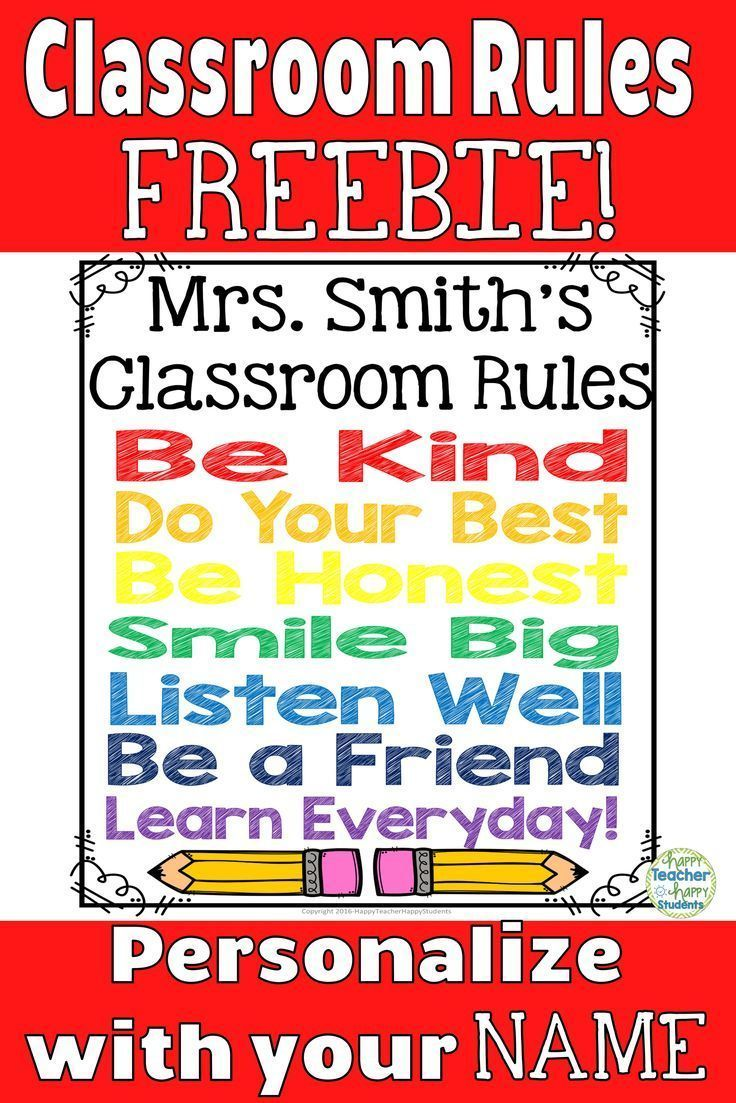 EDITABLE Classroom Rule Sign: Personalisieren Sie mit Ihrem eigenen ... -