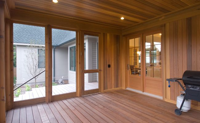 Best Screened Porch Interior Screen Porch Interior With Cedar 400 x 300