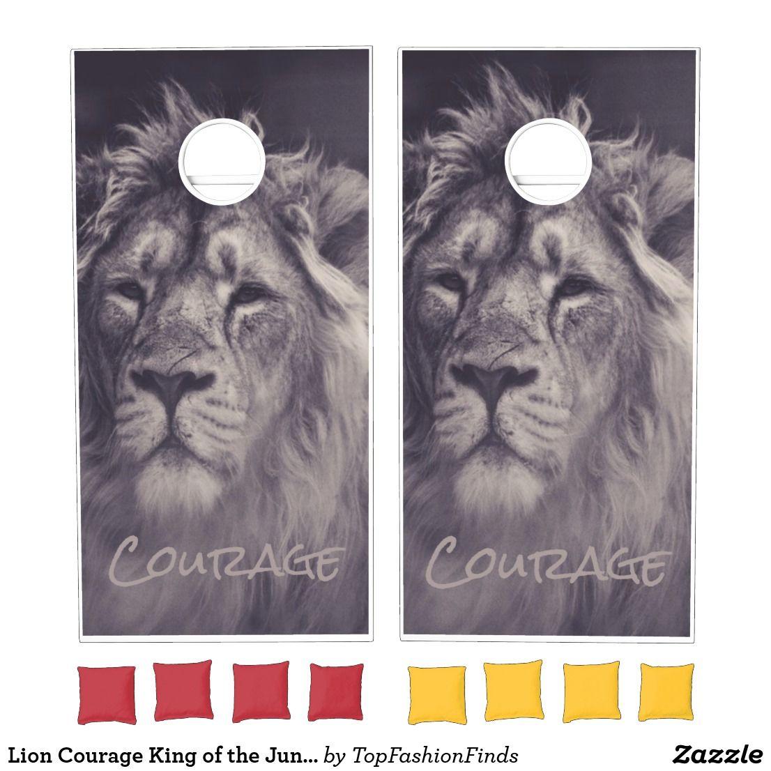 Lion Courage King of the Jungle Cornhole Set