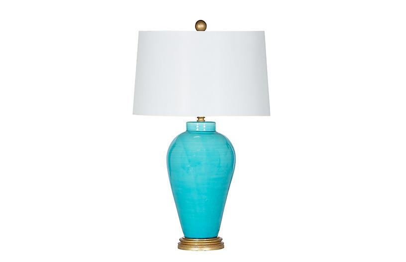 Hamptons Table Lamp Aqua Luxe Lighting Decor By Bradburn Home Week 46 Sales Events 2018 One Kings Lane Lamp Table Lamp Ceramic Lamp Base