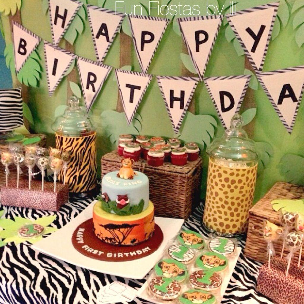 Lion king safari themed 1st birthday party projects to try lion king safari themed 1st birthday party filmwisefo