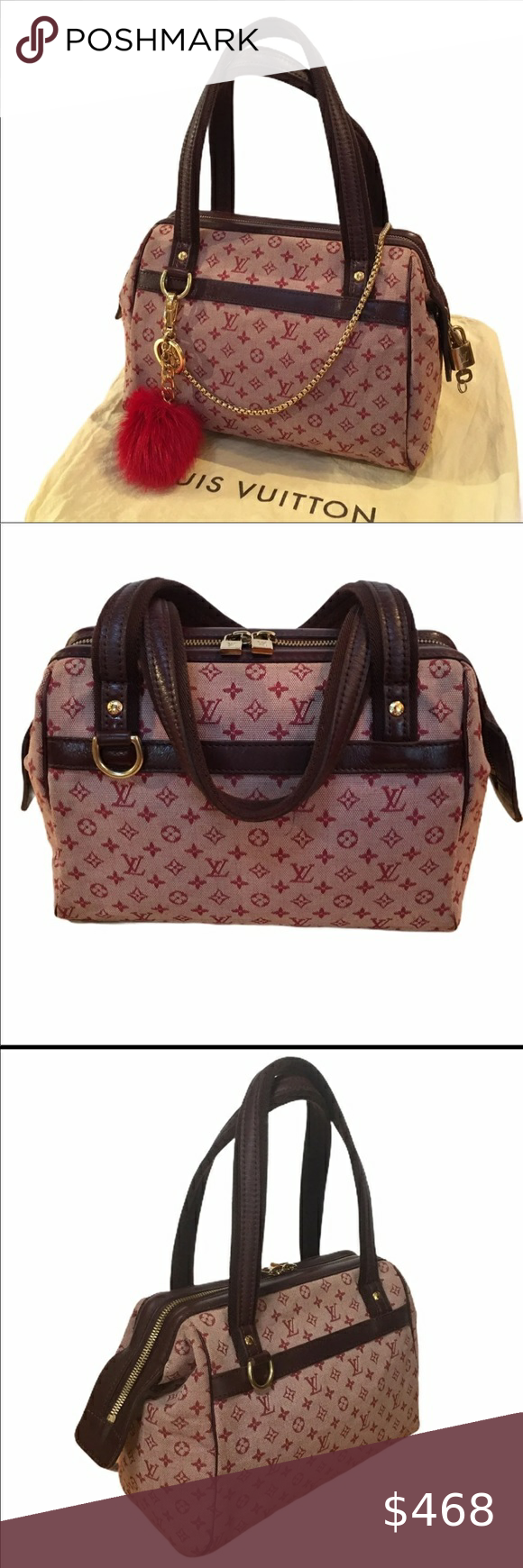 Auth Louis Vuitton Josephine Min Lin Cherry Pm In 2020 Louis Vuitton Vuitton Louis Vuitton Red