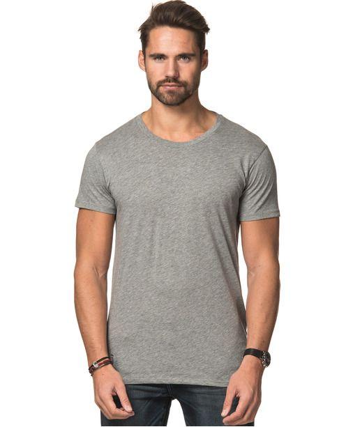 Ensfargete T-shirts fra A.O CMS - Lightweight Tee Grey Melange - Stayhard designer klær og mote på nett