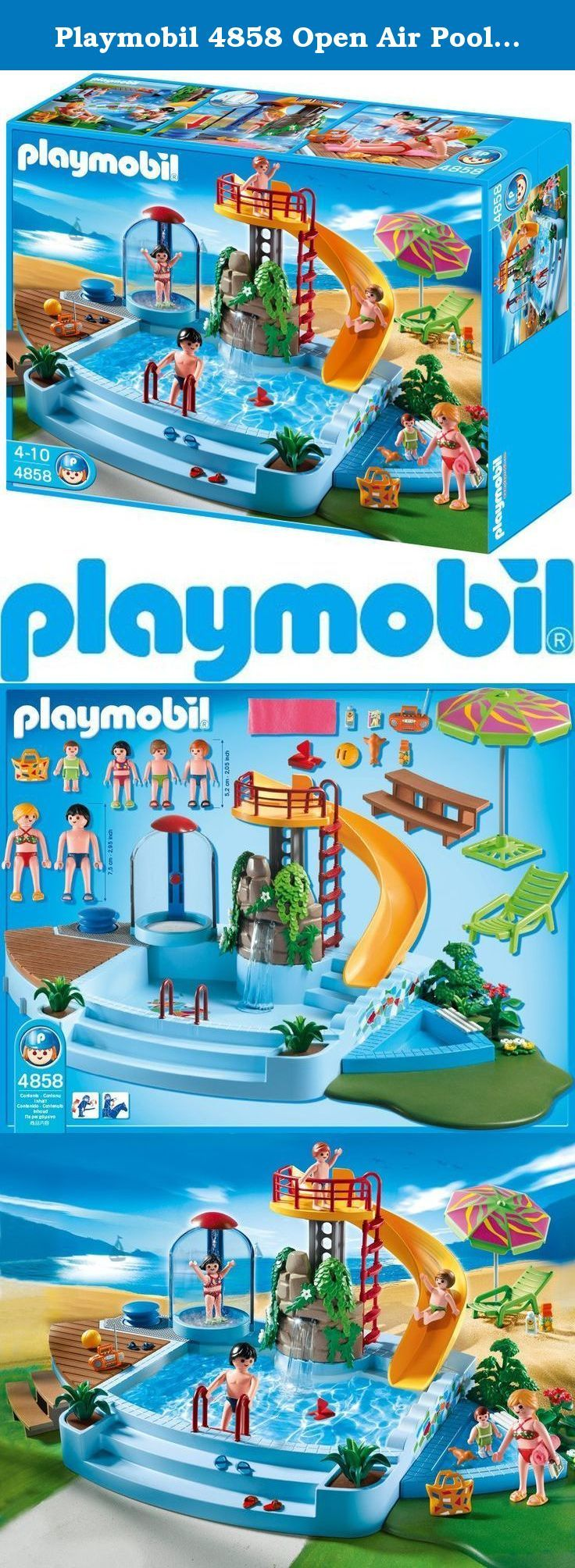 Playmobil 4858 Open Air Pool With Slide. The New Playmobil Swimming Pool Is  Perfect Summer
