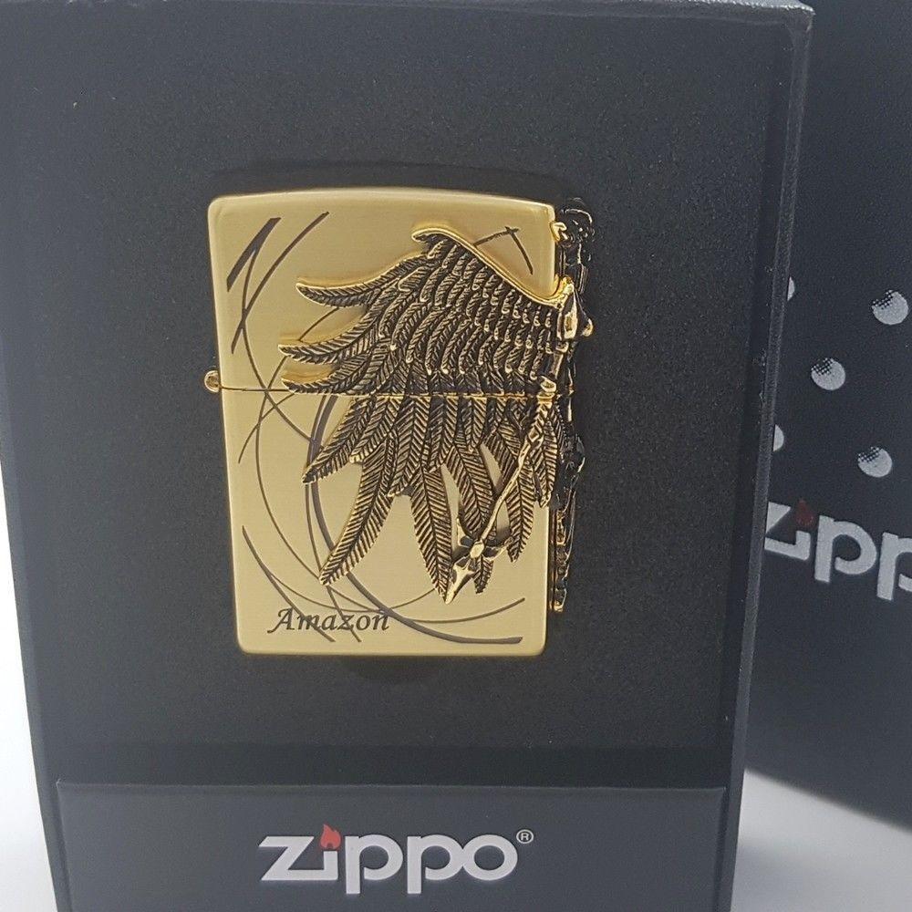 Zippo Original Lighter Amazon 1 Gold Wing Authentic Made In Usa Free Gift 6flint Zippo Zippo Original Zippo Lighter Harley Davidson Zippo Lighter