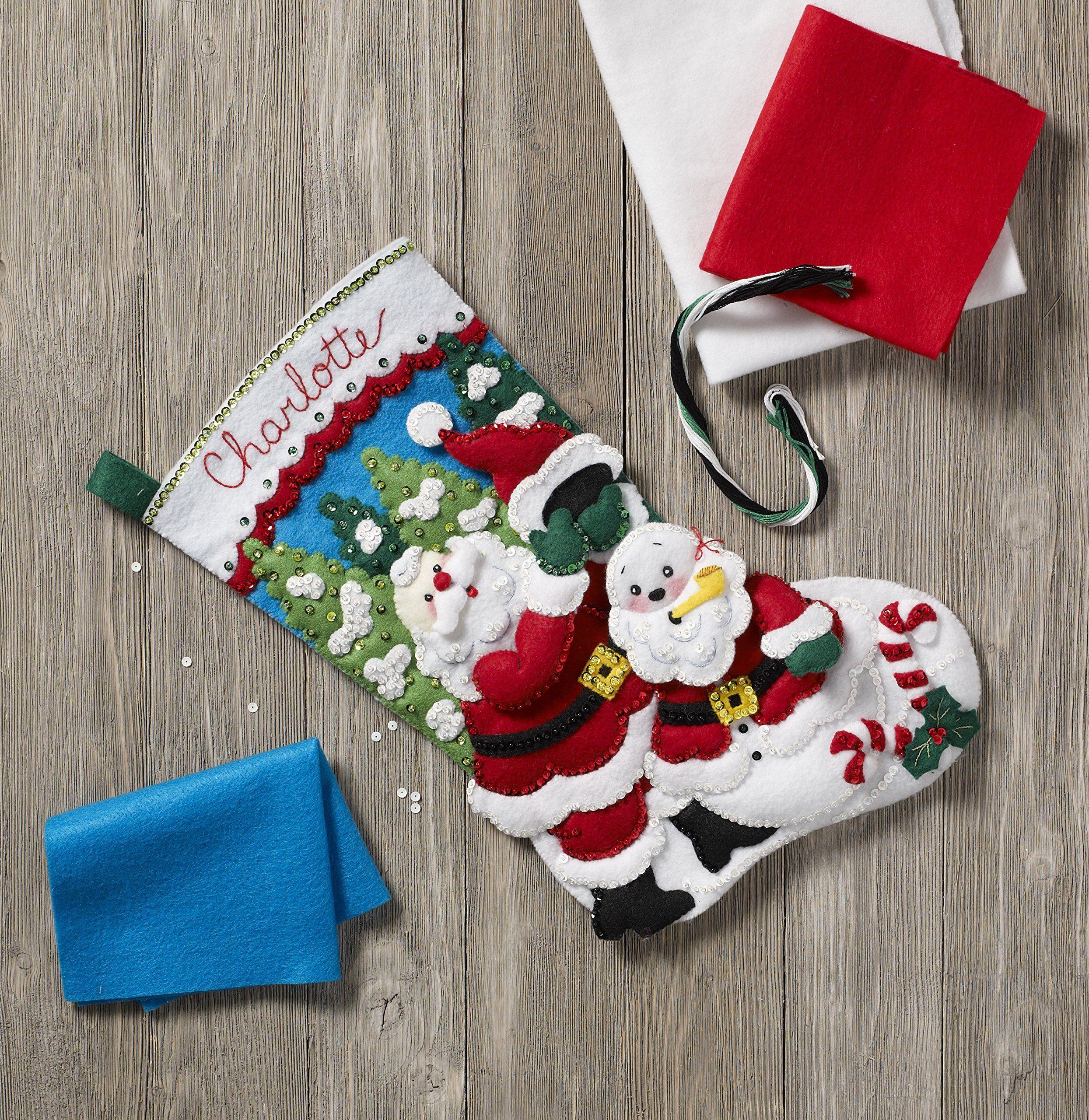 Bucilla 86862 Santas Snowman Stocking Kit * You Can Get