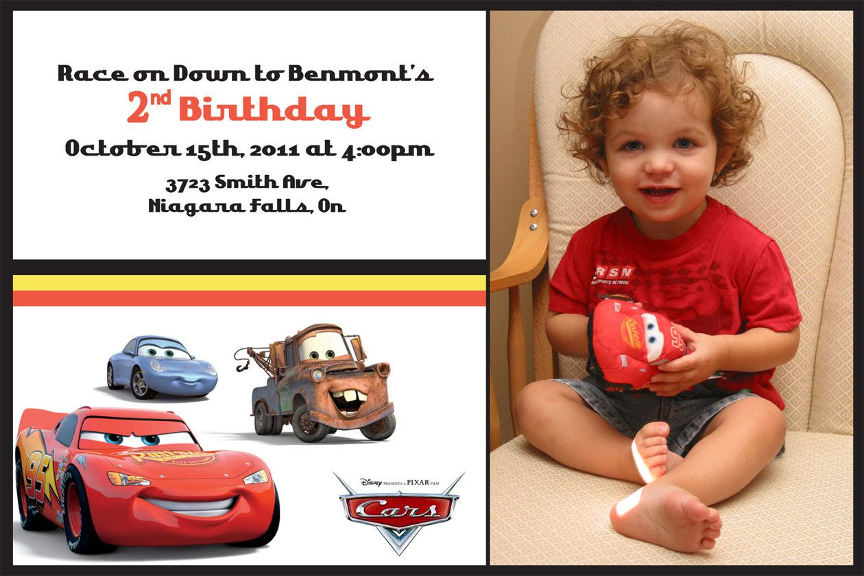 Custom Cars Birthday Invitation. $4.99, via Etsy.