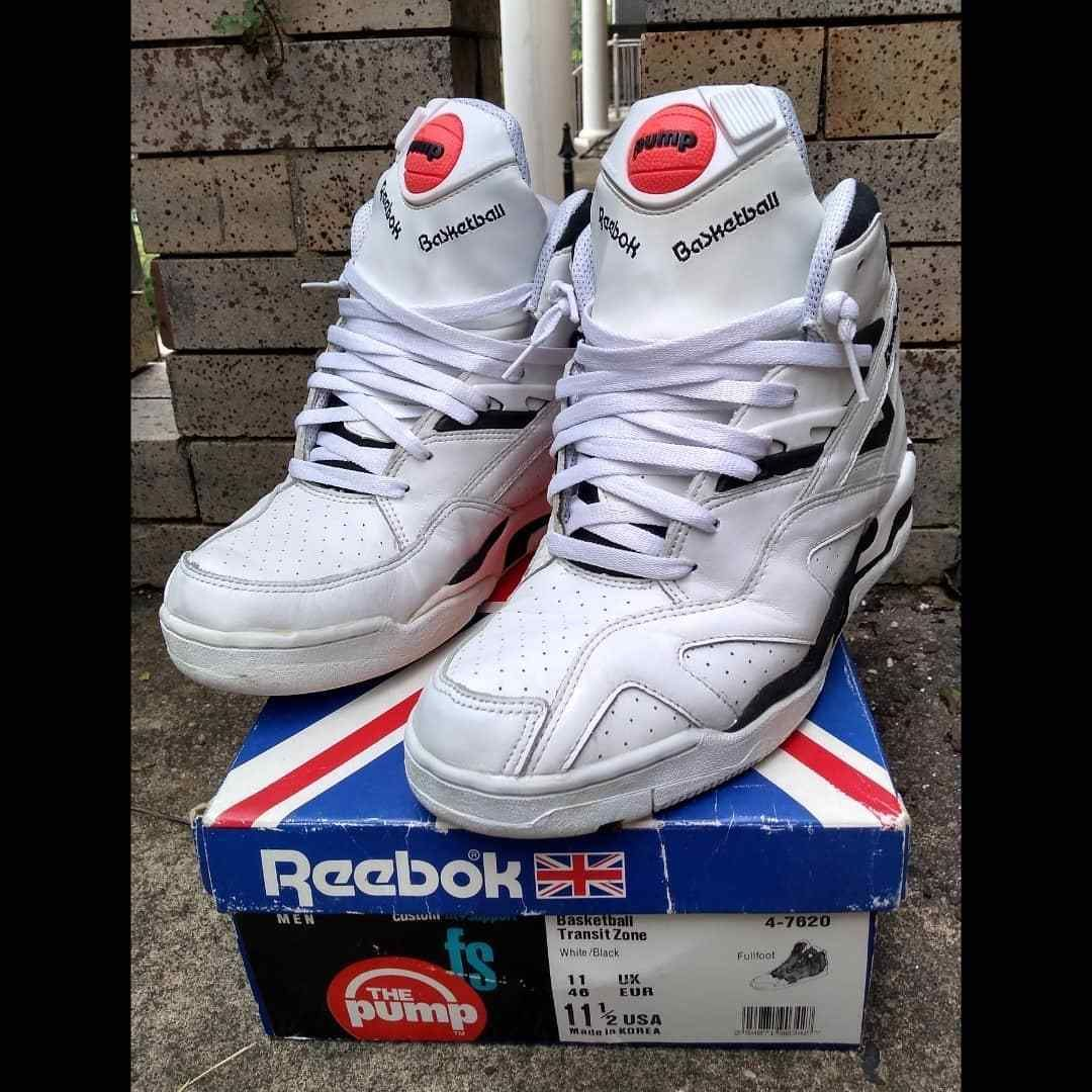 43a075269f10d Details about Vintage 90 s Reebok Men s The Pump Hexalite Basketball ...