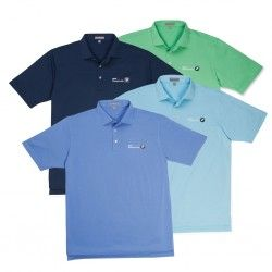 c2f90a0e1 BMW Golf Championship, Peter Millar Solid Summer Men's Comfort Stretch Shirt.  Lightweight polo is fast drying and constructed with four-way stretch to ...