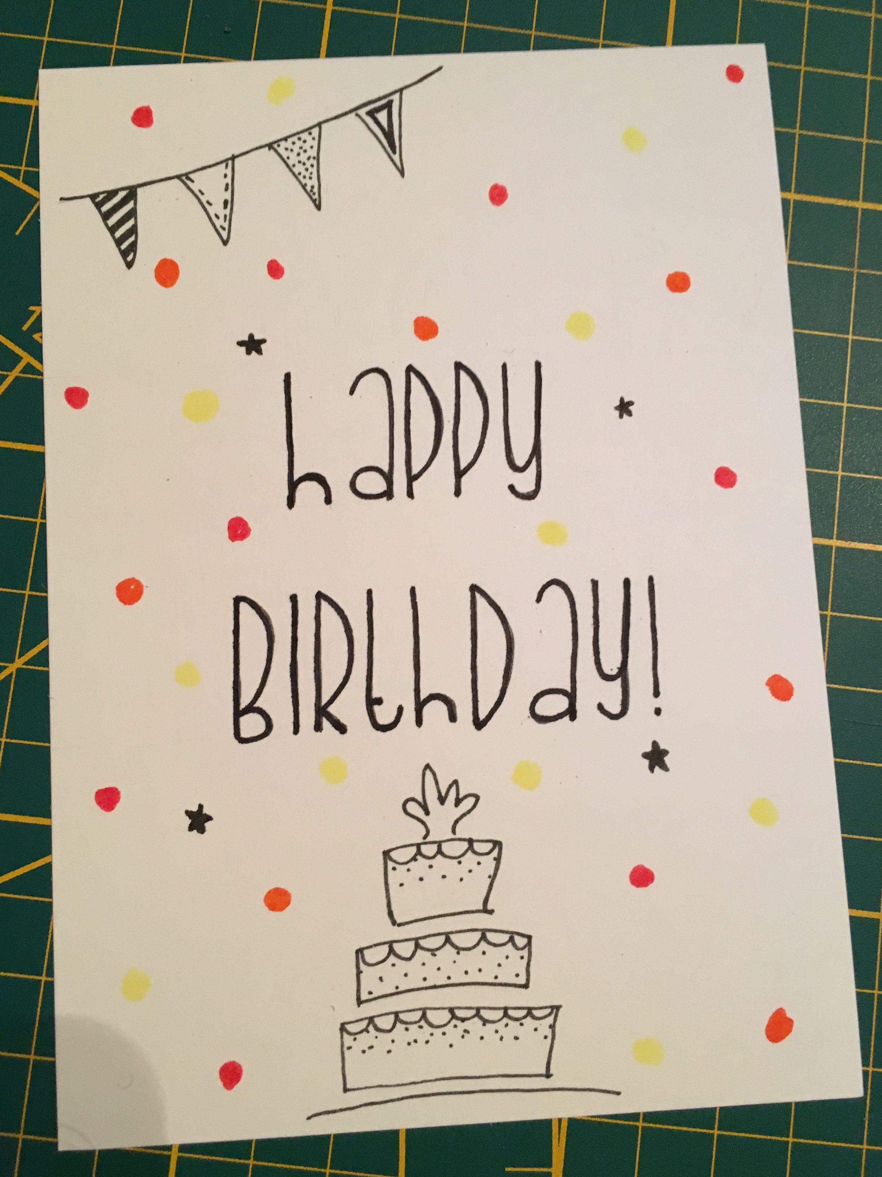 Pin By Dani Jamr U On Birthday Birthday Cards For Friends Happy Birthday Cards Diy Birthday Cards Diy