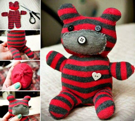 sock teddy craft sock teddy tutorial easy tutorial sock bears and teddy bears