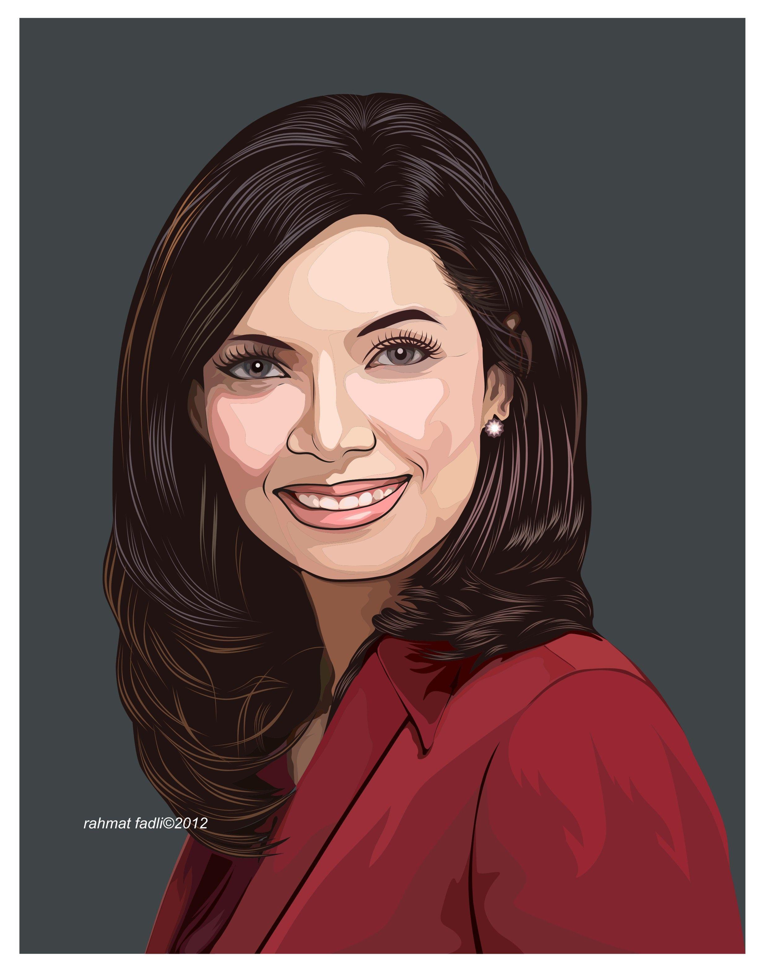 Najwa Shihab. Corel Draw vector illustration. Vector
