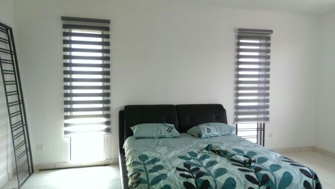 Bedroom With Zebra Blinds Home Decor Zebra Blinds Interior Design