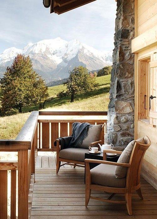 Porch Winter Chalet By Nicky Dobree