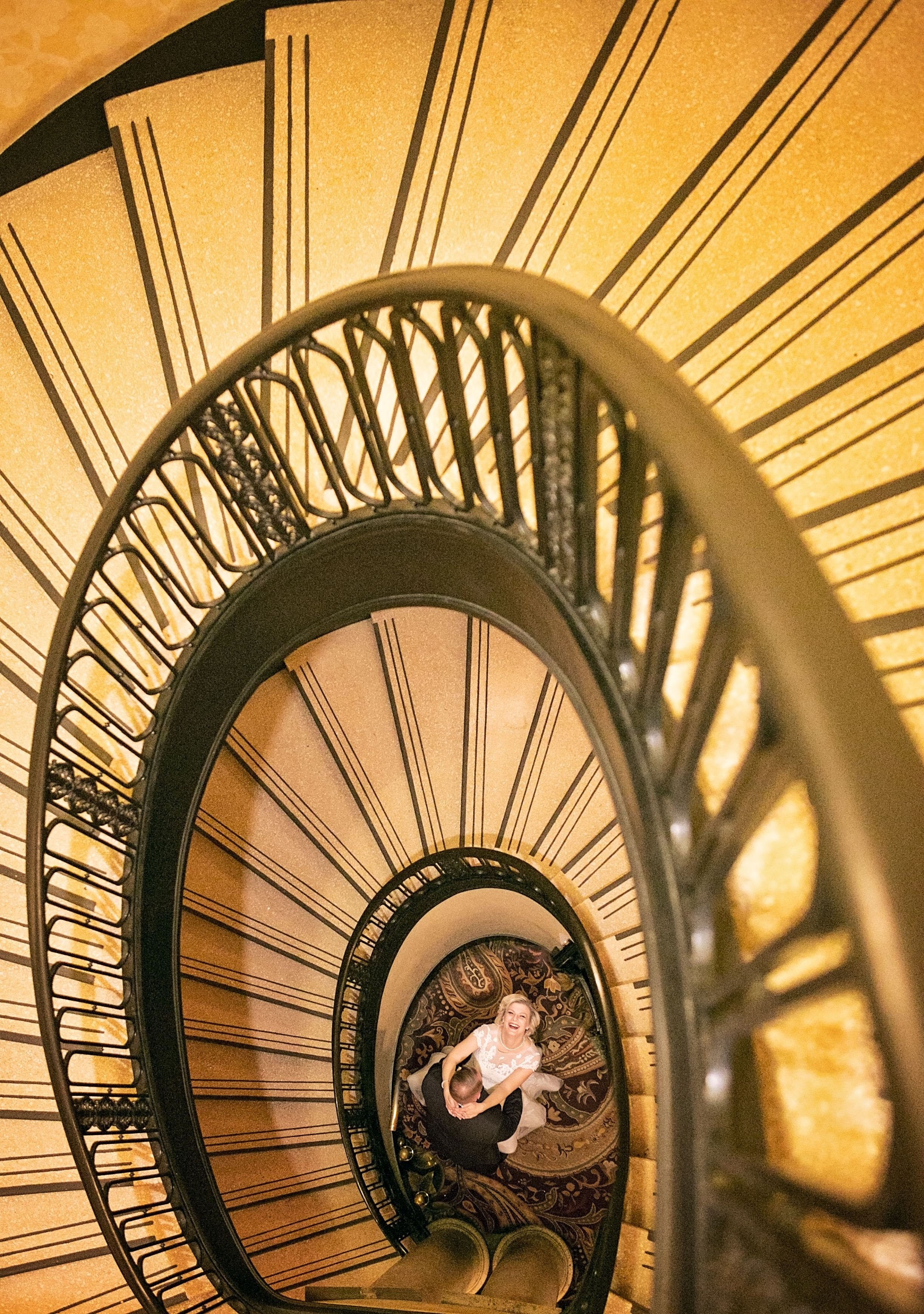 Beautiful Spiral Staircase Wedding Photo. Chicage, IL Wedding Photography Http://www.