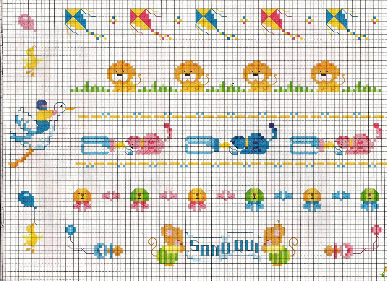 Schemi punto croce per bavaglini gs03 regardsdefemmes for Schemi punto croce alfabeto bambini
