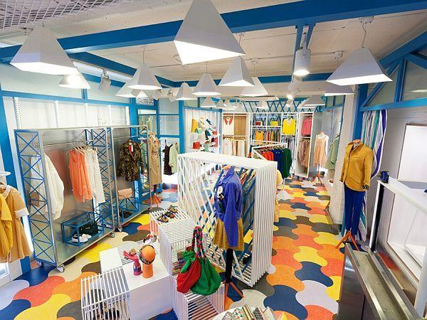 Spice Fashion Colorful Shop Interior Design