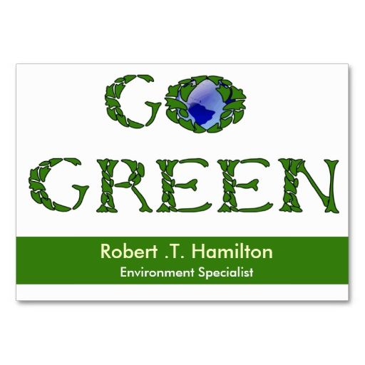 Go green business cards it is green business and places go green business cards reheart Gallery