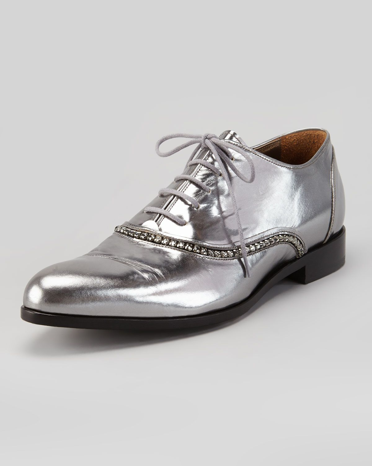 sast Lanvin Embellished Glitter Oxfords cheap sale with mastercard outlet popular xjJbHL2g
