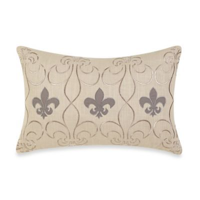 Bed Bath And Beyond Decorative Pillows Pleasing Bed Bath & Beyond Fleur De Lis Oblong Throw Pillow  King Comforter Decorating Inspiration