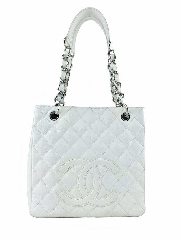 Consigned Designs Chanel Handbags White Caviar Leather Petite