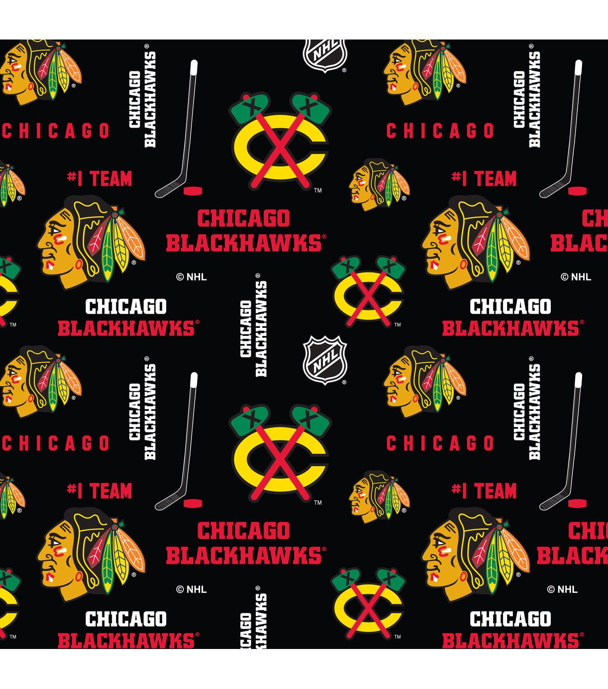 Chicago blackhawks cotton fabric