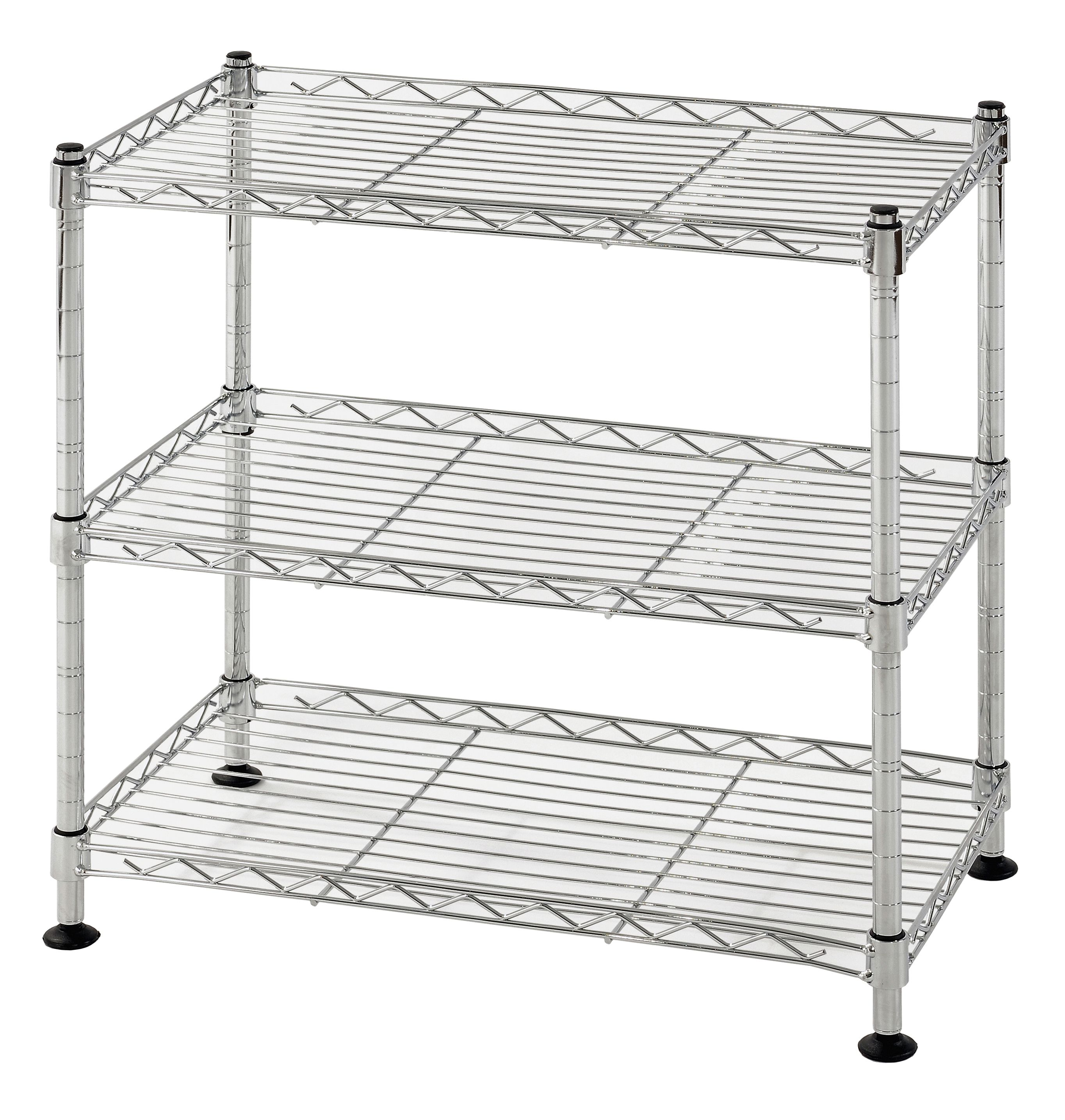 Muscle Rack 18 W X 10 D X 18 H 3 Tier Steel Wire Shelving Unit 264 Lb Capacity Chrome Walmart Com In 2020 Wire Shelving Wire Shelving Units Commercial Shelving