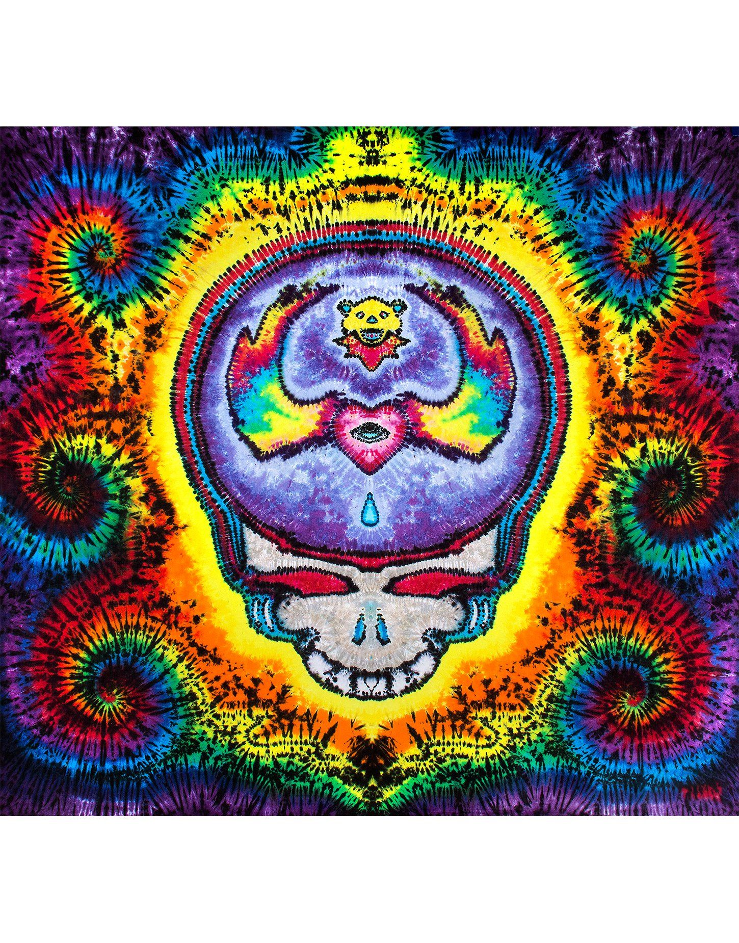 Jammin Stealie Tapestry Tapestry, Tie dye tapestry