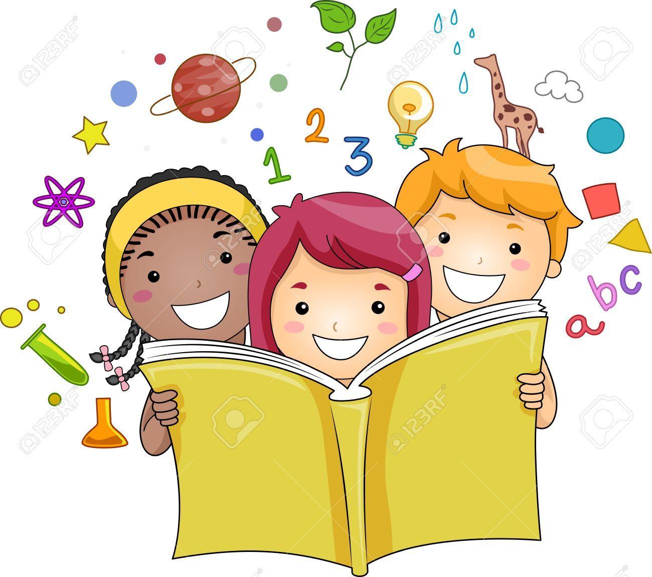 Ilustracion De Un Grupo De Ninos Leyendo Un Libro Mientras Educacion Iconos Relacionados Hover En El Fondo Ninos Leyendo Ninos Leyendo Animados Imagenes De Ninos Estudiando