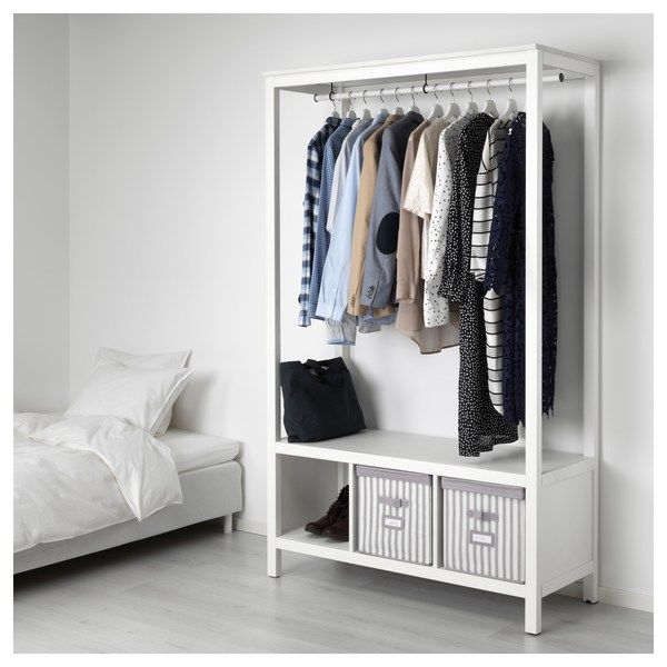 hemnes kleiderschrank offen wei las in 2019 mein look. Black Bedroom Furniture Sets. Home Design Ideas