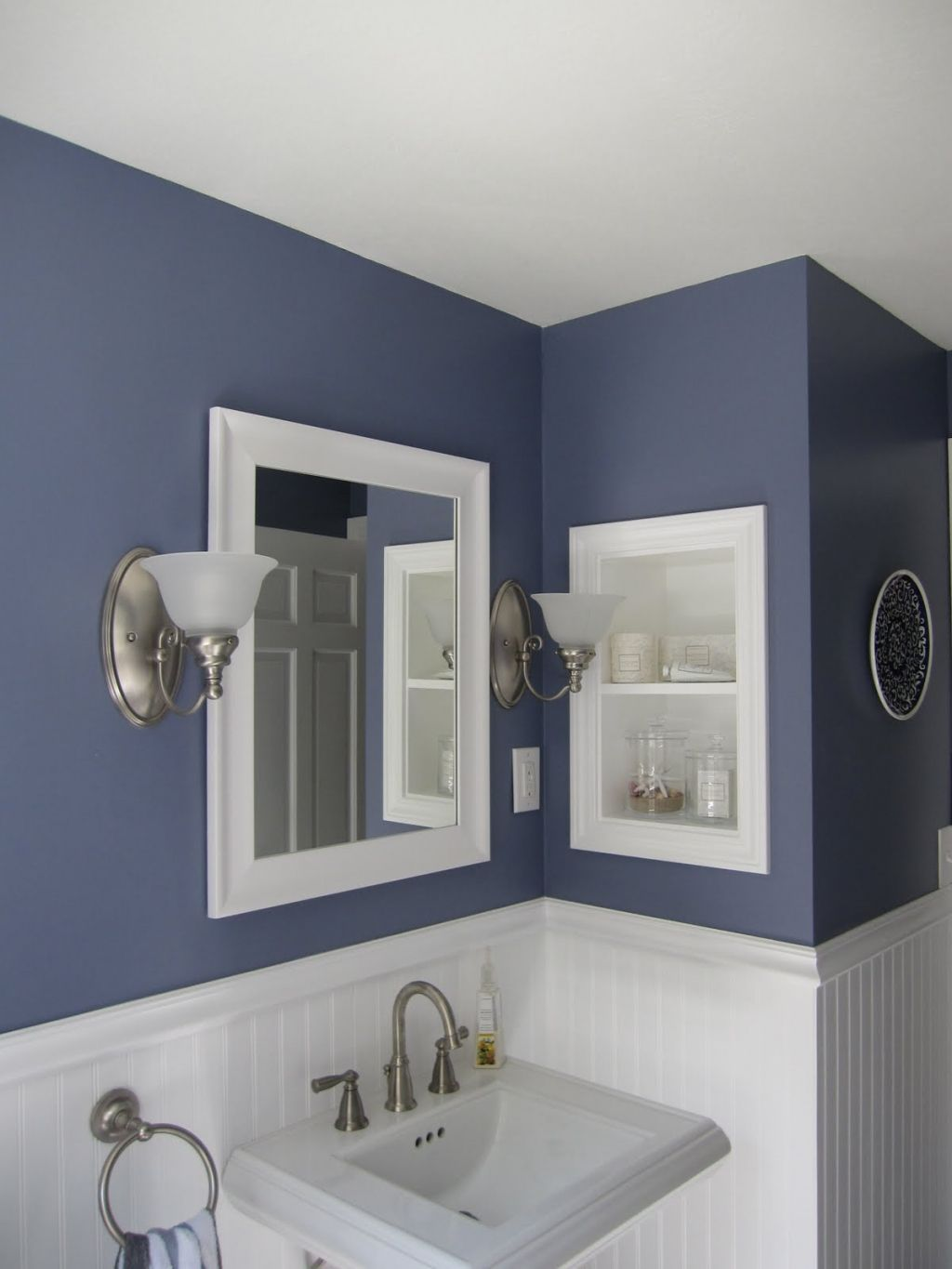 half bath decorating ideas bathroom decorating ideas 2 pictures of 6 awesome half bathroom - Bathroom Decorating Ideas Blue Walls
