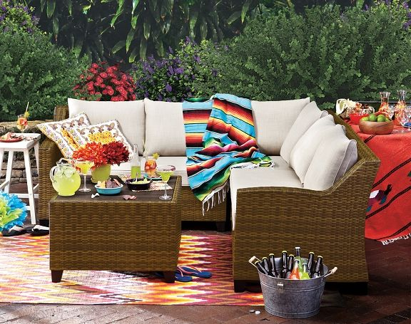 Superior Woodfield Outdoor Furniture Collection   Value City Furniture 3 Pc. Patio  Sectional And Cocktail