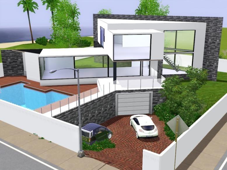 sims 3 maison moderne ventana blog. Black Bedroom Furniture Sets. Home Design Ideas